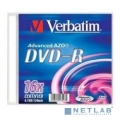 Verbatim  Диски DVD-R Verbatim 16-x, 4.7 Gb, (Slim Case) [43547] (отпускать поштучно)  [Гарантия: 2 недели]