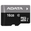 Micro SecureDigital 16Gb A-DATA AUSDH16GUICL10-RA1 {MicroSDHC Class 10 UHS-I, SD adapter}  [Гарантия: 2 года]
