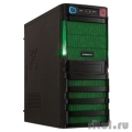 CROWN Корпус Miditower  CMC-SM162 black/green ATX w/o