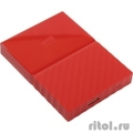 "WD Portable HDD 1Tb My Passport WDBBEX0010BRD-EEUE {USB3.0, 2.5"", red}  [Гарантия: 2 года]"