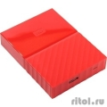"WD Portable HDD 2Tb My Passport WDBUAX0020BRD-EEUE {USB3.0, 2.5"", red}  [Гарантия: 2 года]"
