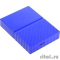 "WD Portable HDD 2Tb My Passport WDBUAX0020BBL-EEUE {USB3.0, 2.5"", blue}  [Гарантия: 2 года]"
