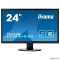 "IIYAMA 24"" E2483HS-B3 черный {TN 1920х1080, 1ms 250cd/m2, 170°/160°, 80М:1, HDMI D-Sub DisplayPort}  [Гарантия: 3 года]"