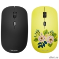 CANYON CND-CMSW400R {wireless Optical  Mouse with 4 buttons, DPI 800/1200/1600, 1 additional cover(Roses), black, 103*58*32mm, 0.087kg, 2.4GHz}  [Гарантия: 2 года]